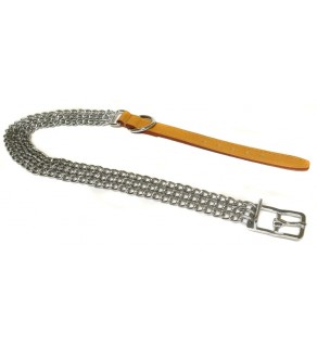 "Ancol 3 Row Heavy Chain Collar 55cm/22"" Size 6"