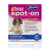 Johnsons 4fleas Spot-on Medium Dog 2 Vial Pack