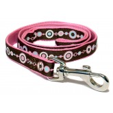 Ancol Nylon Lead Pink Chain 1m X19mm Sz 1-9
