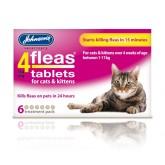 Johnsons 4 Fleas Cat Flea Tablets 6Tab