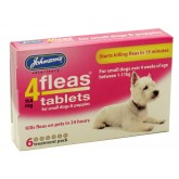 Johnsons 4 Fleas Puppy Flea Tablets 6 pack