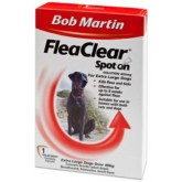 Bob Martin Flea Clear Extra Large Dog Spot On 1 Tube