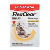 Bob Martin Flea Clear Small Dog Spot On 1 Tube