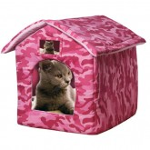 Ancol Just 4 Pets Bed Camouflage Pink