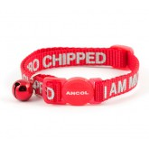 "Ancol Cat Collar Alert ""I Am Micro Chipped"" Red"