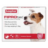 Beaphar FIPROtec Spot-On Solution for Small Dogs 6 treatment