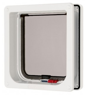 Pet Mate Lockable Cat Flap + Liner - White