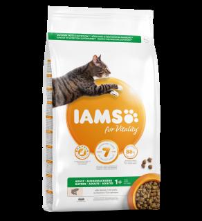 Iams Vitality Adult Cat Food With Salmon 2kg