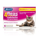Johnsons 4 Fleas Cat Flea Tablets 6Tab