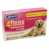 Johnsons 4 Fleas Dog Flea Tablets 6 Pack