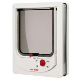 Pet Mate Electromagnetic Cat Flap - White
