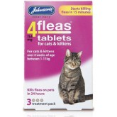 Johnsons 4 Fleas Cat 3 Tablets