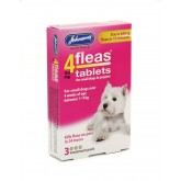Johnsons 4 Fleas Puppy Flea Tablets 3 pack