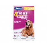 Johnsons 4 Fleas Dog Flea Tablets 3 Pack