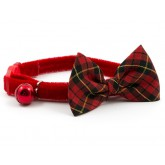 Ancol cat collar Vintage Bow Tartan