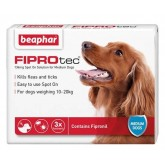 Beaphar FIPROtec Spot-On for Medium Dogs 3 Treatment