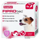 Beaphar FIPROtec Spot-On Solution for Small Dogs 4 treatment