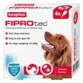 Beaphar FIPROtec Spot-On for Medium Dogs 4 Treatment