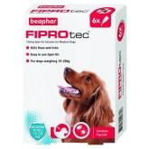 Beaphar FIPROtec Spot-On Solution for Medium Dogs 6 Treatment